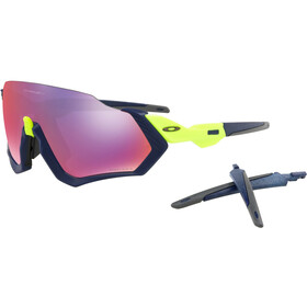 Oakley Flight Jacket Brillenglas, matte navy/prizm road